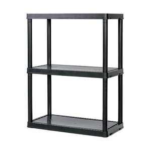 Gracious Living Light Duty Solid 12x24x33 Inch Storage Shelving Unit, 3 Shelf
