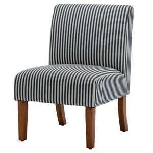 eLuxury Armless Striped Accent Chair