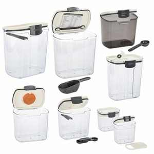 Progressive International 8 Piece Clear Dry Ingredient Storage Container Set