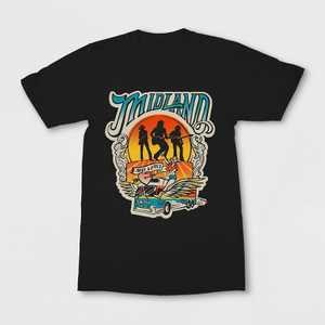 Women's Midland Band Short Sleeve Graphic T-Shirt - Black S