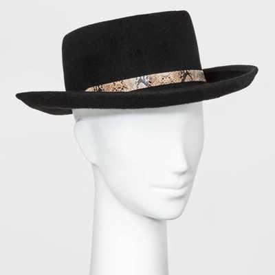 Women's Felt Boater Hat - Universal Thread™ Black One Size