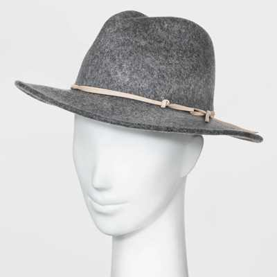Women's Felt Fedora Hat - Universal Thread™ Gray One Size