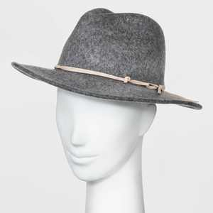 Women's Felt Fedora Hat - Universal Thread™ Gray One Size