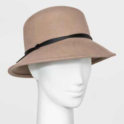 Women's Cloche Hat - A New Day™ Taupe One Size