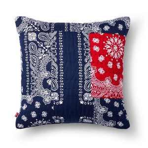 """18""""x18"""" Patchwork Bandana Print Throw Pillow Blue - Levi's® x Target"""