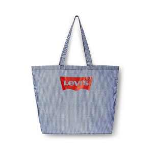 Striped Reusable Shopping Bag White/Navy - Levi's® x Target