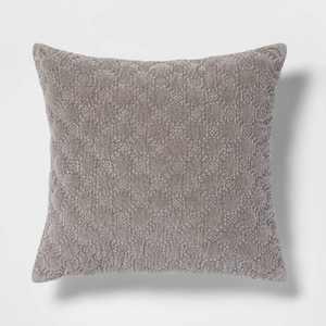 Square Velvet Embroidered Decorative Throw Pillow - Threshold™