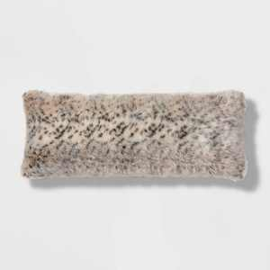 Oblong Oversized Faux Fur Decorative Throw Pillow Animal Print - Threshold™