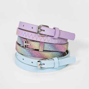 Girls' 3pk Rainbow Glitter Belt - Cat & Jack