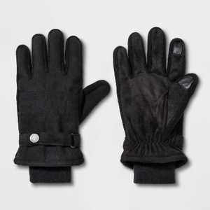 Men's Touch Tech Thinsulate Lined Qulited Snap Gloves - Goodfellow & Co Gray