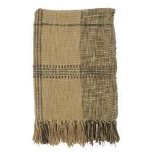 """50""""x70"""" Plaid Cotton Throw Blanket - SARO"""