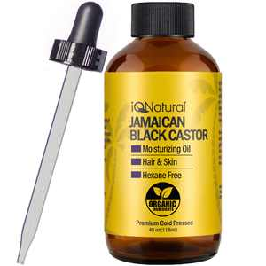 IQ Natural Jamaican Black Castor Oil - Hair Oil for Hair Growth and Skin Conditioning - 4oz Bottle