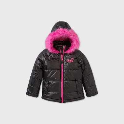 Girls' Nickelodeon JoJo Siwa Flip Sequin Puffer Jacket - Black