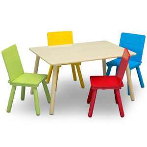 Delta Children Kids' Table and Chair Set 4 Chairs Included