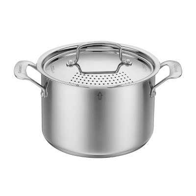 Cuisinart 5.75qt Stainless Steel Pasta Pot with  Straining Cover - 83665S-22