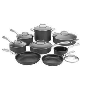 Cuisinart Classic 14pc Hard Anodized Cookware Set - 63-14