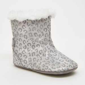 Baby Surprize by Stride Rite Winter Faux Fur Sneakers - Silver