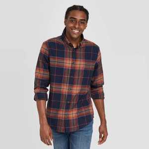 Men's Standard Fit 1-Pocket Flannel Long Sleeve Button-Down Shirt - Goodfellow & Co