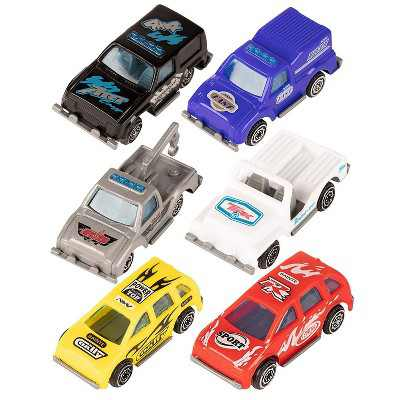 Juvale Mini Race Car Toys - 12-Pack Push Vehicles, Perfect Party Favor for Boys Themed Birthday Parties, 6 Assorted Designs, 1.1 x 1 x 2.6 Inches