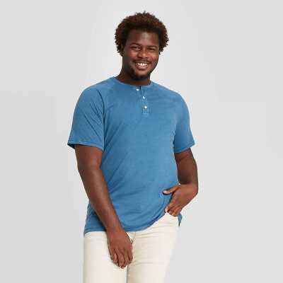 Men's Big & Tall Standard Fit Short Sleeve Henley T-Shirt - Goodfellow & Co