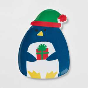 "11"" x 8.5"" Melamine Penguin Dinner Plate - Wondershop™"