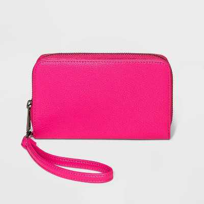Snap Closure Wristlet - A New Day™ Pink