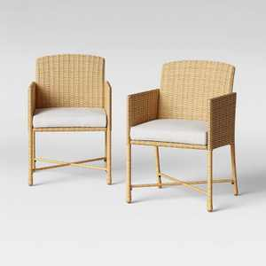 Eliot 2pk Closed Weave Patio Dining Chair - Threshold™