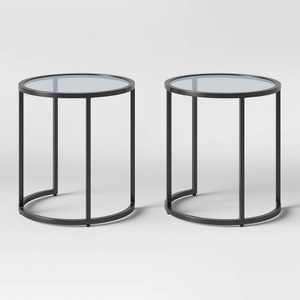 Flat Black Nesting Patio Accent Table Set - Project 62™