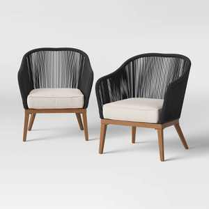 Purcell Light Wood 2pk Patio Club Chairs - Project 62™