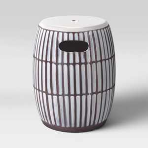 Ceramic Global Lines Patio Accent Table - Opalhouse™