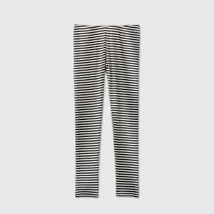 Girls' Stripe Leggings - Cat & Jack Black/Cream