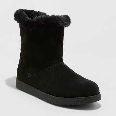 Women's Cat Mid Shearling Style Boots - Universal Thread