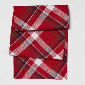 "72"" x 14"" Cotton Multi-Plaid Table Runner - Threshold™"