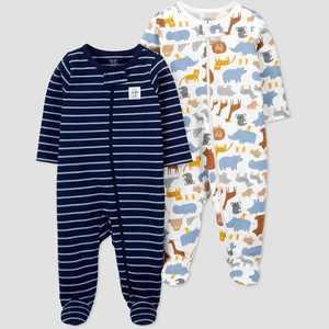 Baby Boys' 2pk Safari Sleep N' Play - Just One You made by carter's Blue