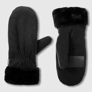 Isotoner Women's smartDRI Recycled Fleece Mittens - Black One Size