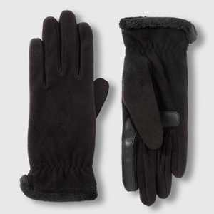 Isotoner Women's smartDRI Recycled Fleece Gloves - Black One Size