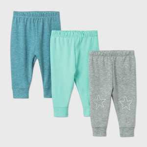 Baby Boys' Starry Slumber Pants - Cloud Island Green/Gray