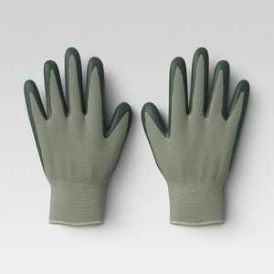 2pk M/L Bamboo Nitrile Gloves Green/Blue - Smith & Hawken™