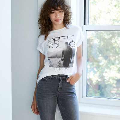Women's Brett Young Short Sleeve Graphic T-Shirt - White