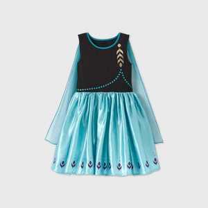 Girls' Disney Frozen Anna Epilogue Dress - Black/Blue