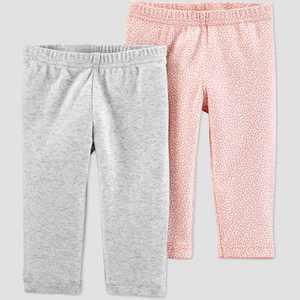 Baby Girls' 2pk Organic Cotton Botanical Leggings - little planet organic by carter's Pink