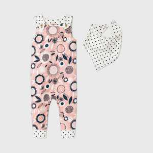Baby Girls' Floral Romper with Bib - Cat & Jack Pink