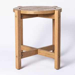Bluffdale Wood Patio Accent Table - Threshold™ designed with Studio McGee
