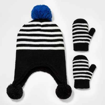 Toddler Boys' 2pk Knit Trapper with Mittens - Cat & Jack