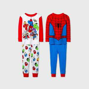 Toddler Boys' 4pc Spider-Man Pajama Set - Blue