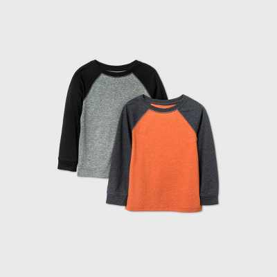 Toddler Boys' 2pk Raglan T-Shirt - Cat & Jack Orange