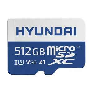 Hyundai 512GB microSDXC UHS-1 Memory Card with Adapter, 95MB/s (U3) 4K Video, Ultra HD, A1, V30