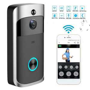 Video Wireless Doorbell Camera WiFi Doorbell 720P HD Home Security Camera with Chime 166 Wide Angle Real-Time Two-Way Audio Night Vision PIR Motion Detection App Control for iOS and Android