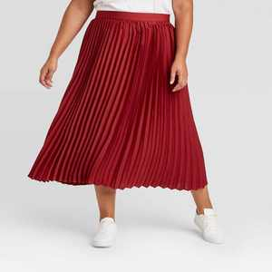 Women's Plus Size Pleated Skirt - Ava & Viv