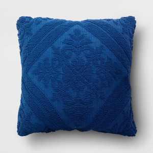 Tufted Throw Pillow Navy - Threshold™